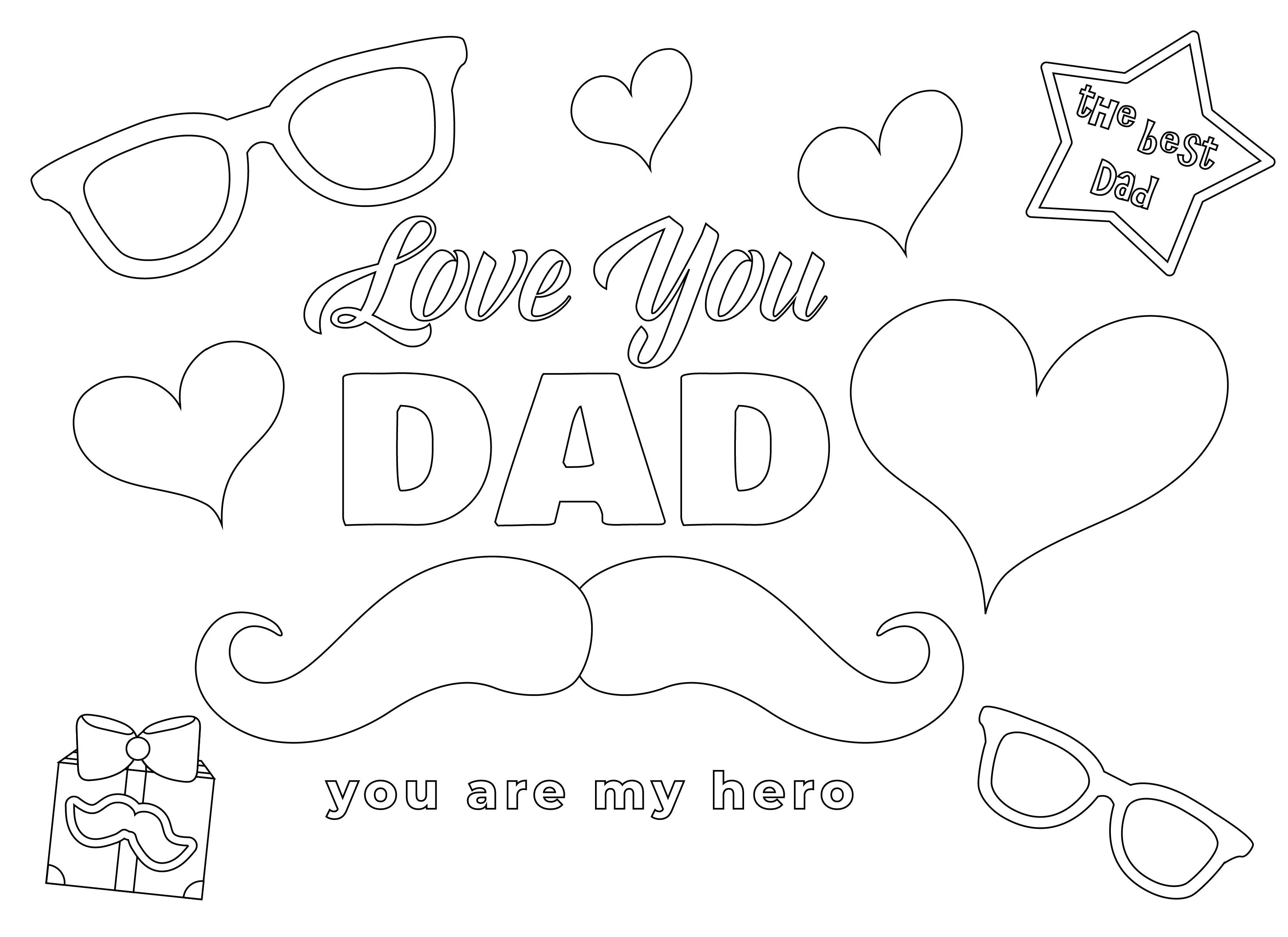 Father Day Coloring book
