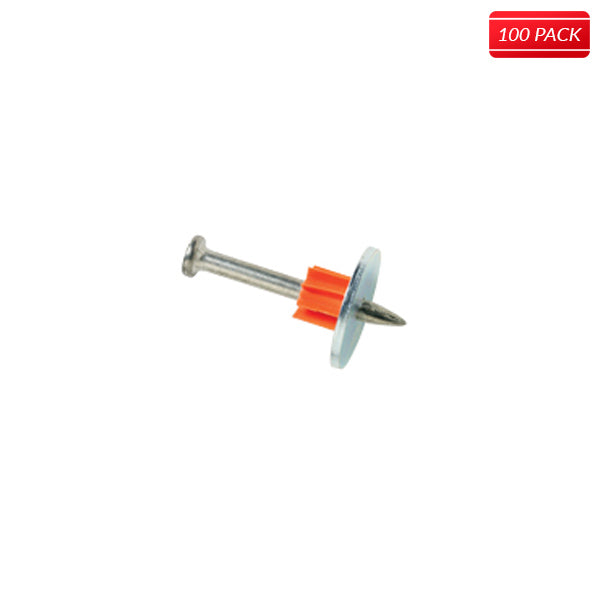 ITW Ramset Drive Pins with Washer 100pack Click For Sizes - Bridge Fasteners