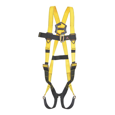 PALMER SAFETY HARNESS 5PT. PASS-THRU LEG, BACK D-RING, BLACK COLOR - Bridge Fasteners