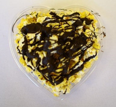Chocolate Covered Popcorn – Heart Box