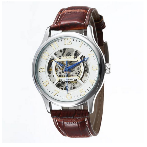 men's mechanical watch singapore leather strap
