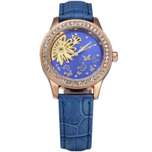 Load image into Gallery viewer, women's mechanical skeleton watch online singapore - blue