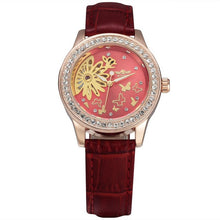 Load image into Gallery viewer, ladies skeleton watch singapore red fashion watch