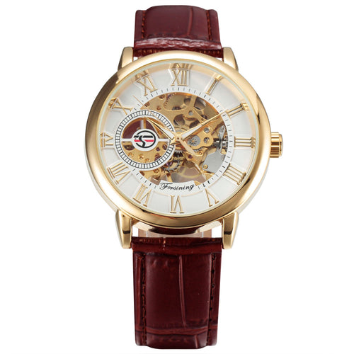 AGUSTUS luxury skeleton watch front view singapore