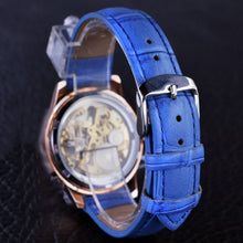Load image into Gallery viewer, women's mechanical skeleton watch online singapore- blue