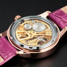 Load image into Gallery viewer, women's mechanical skeleton watch online singapore - skeleton dial