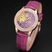 Load image into Gallery viewer, women's mechanical skeleton watch online singapore- royal purple
