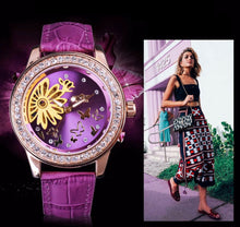 Load image into Gallery viewer, women's mechanical skeleton watch online uK - fashion