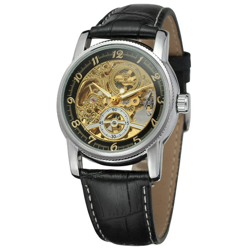 traveller skeleton watch UK - black gold