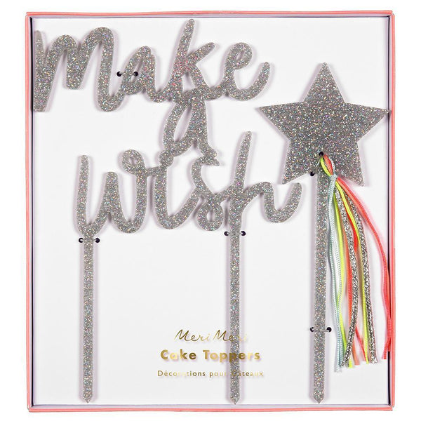 Meri Meri Make a Wish Acrylic Toppers