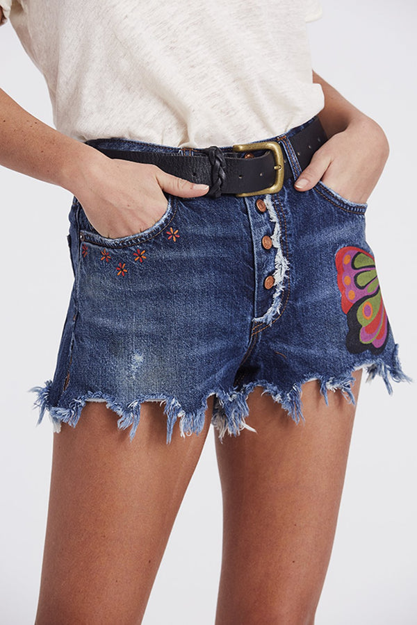 Free People Fields of Sun Denim Short