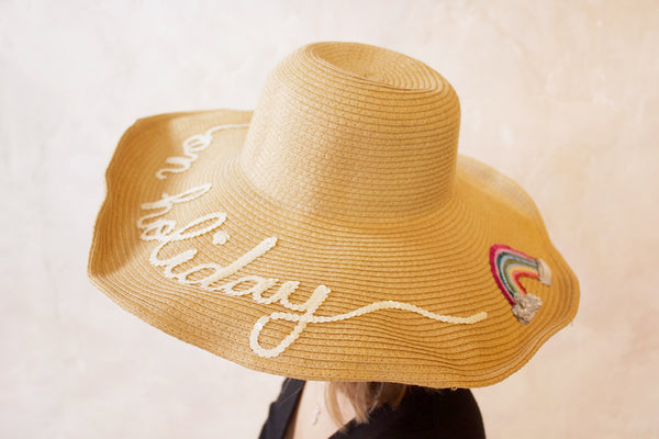 On Holiday Straw Hat