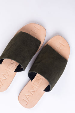Off Duty Khaki Slides