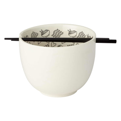 "Hopeless ""Ramen-Tic"" Ramen Bowl with Chopsticks"
