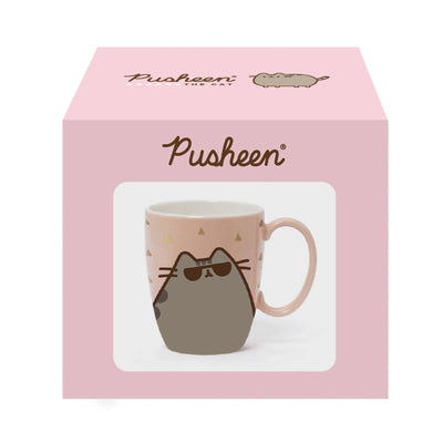 Pusheen Sunglass Gold Pink Mug