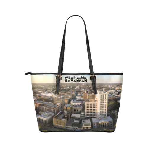 Savannah River Panaroma Leather Tote Bag