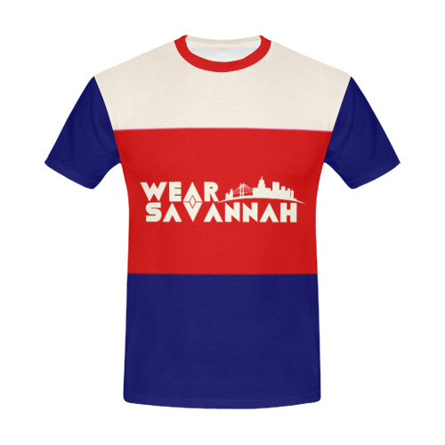 Men's Red, White & Blue T-Shirt