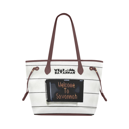 Welcome To Savannah Canvas Tote Bag