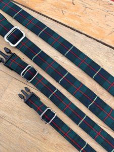 Green/red/navy window pane check collar by Barkley & Fetch