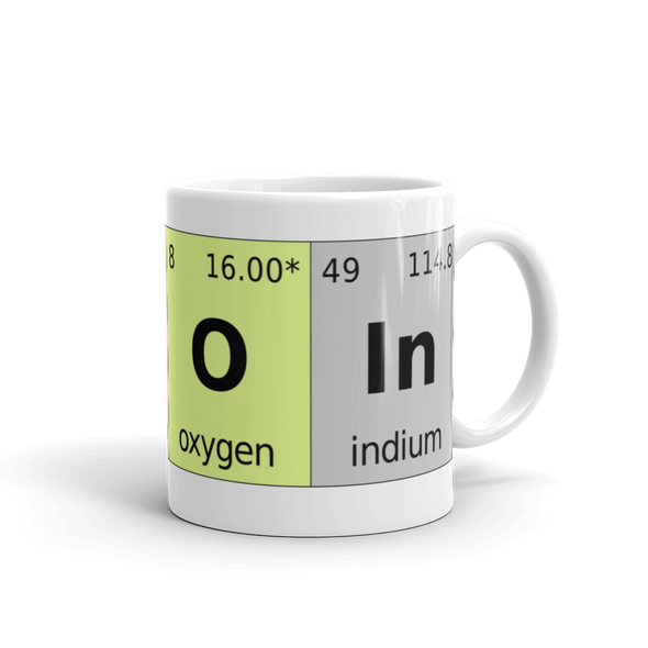 Bitcoin Periodic Table Coffee Mug 11oz  - zeroconfs