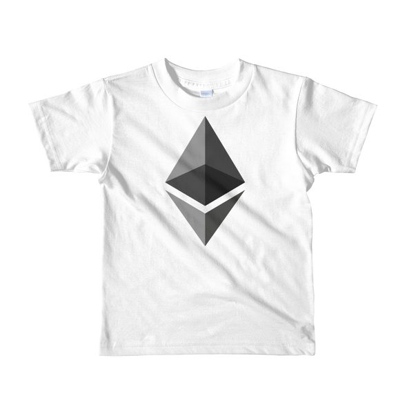 Ethereum Short Sleeve Kids T-Shirt White 2yrs - zeroconfs