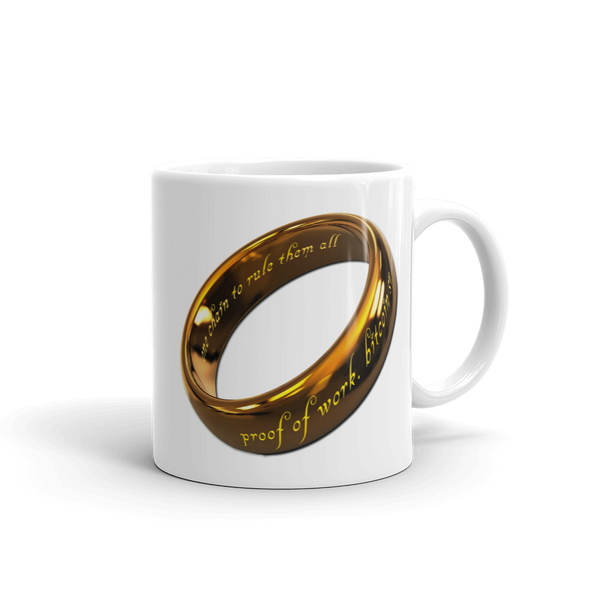 One Chain To Rule Them All Bitcoin SV Coffee Mug 11oz  - zeroconfs