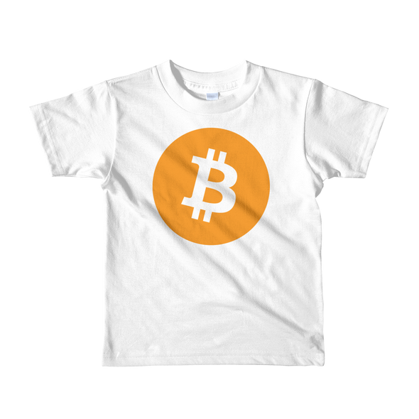 Bitcoin Short Sleeve Kids T-Shirt White 2yrs - zeroconfs