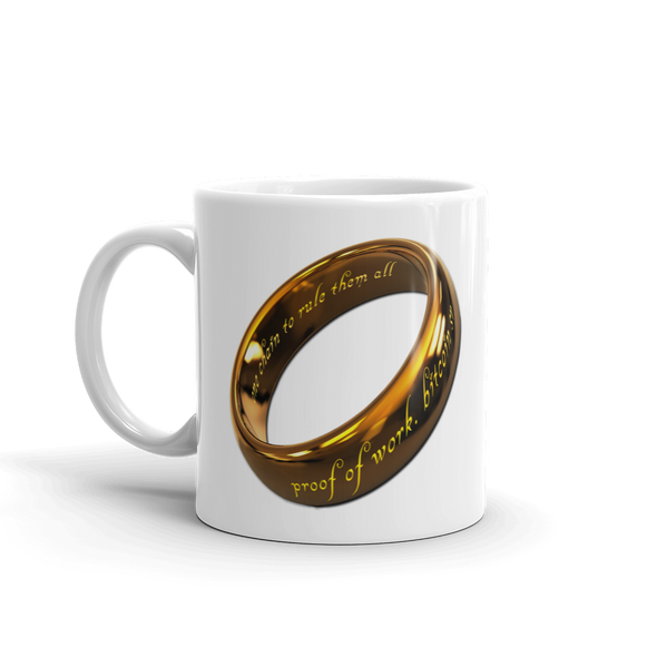 One Chain To Rule Them All Bitcoin SV Coffee Mug   - zeroconfs