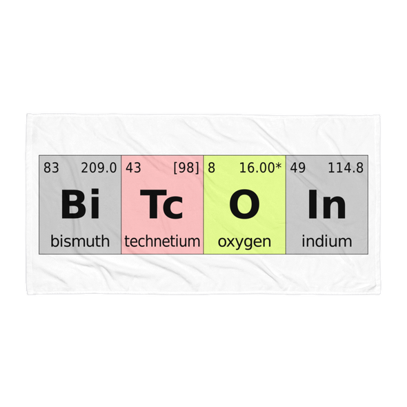 Bitcoin Periodic Table Beach Towel