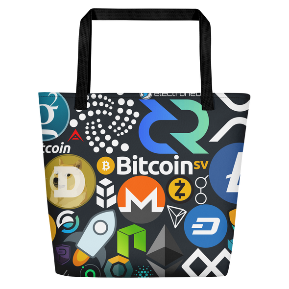 Crypto Calling Beach Bag Black  - zeroconfs