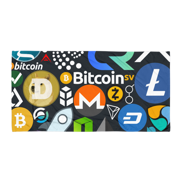Crypto Calling Beach Towel