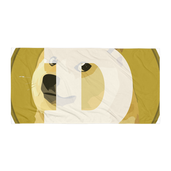 Dogecoin Beach Towel