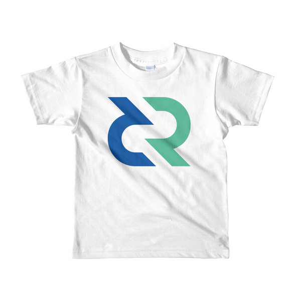 Decred Short Sleeve Kids T-Shirt White 2yrs - zeroconfs