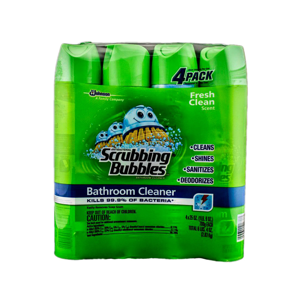 Johnson Scrubbing Bubbles Antibacterial Bathroom Cleaner Fresh Clean Scent 24 cans 25.0oz