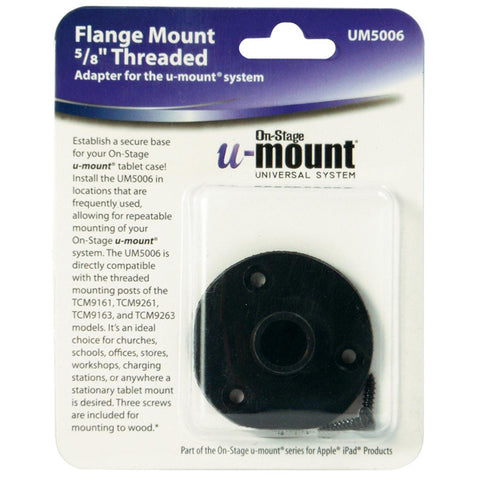 Image of On-Stage UM5006 U-Mount Desk Flange Mount