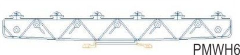 JVA Horizontal 6 Strand Wall Top Bracket