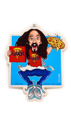 Jumping Pizzaoki Stickers (SET OF 3)