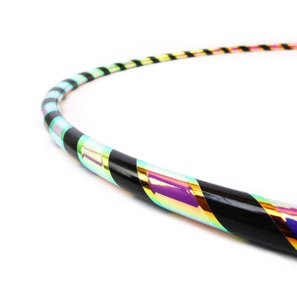 Black Reflective Rainbow Polypro Hoop-The Spinsterz