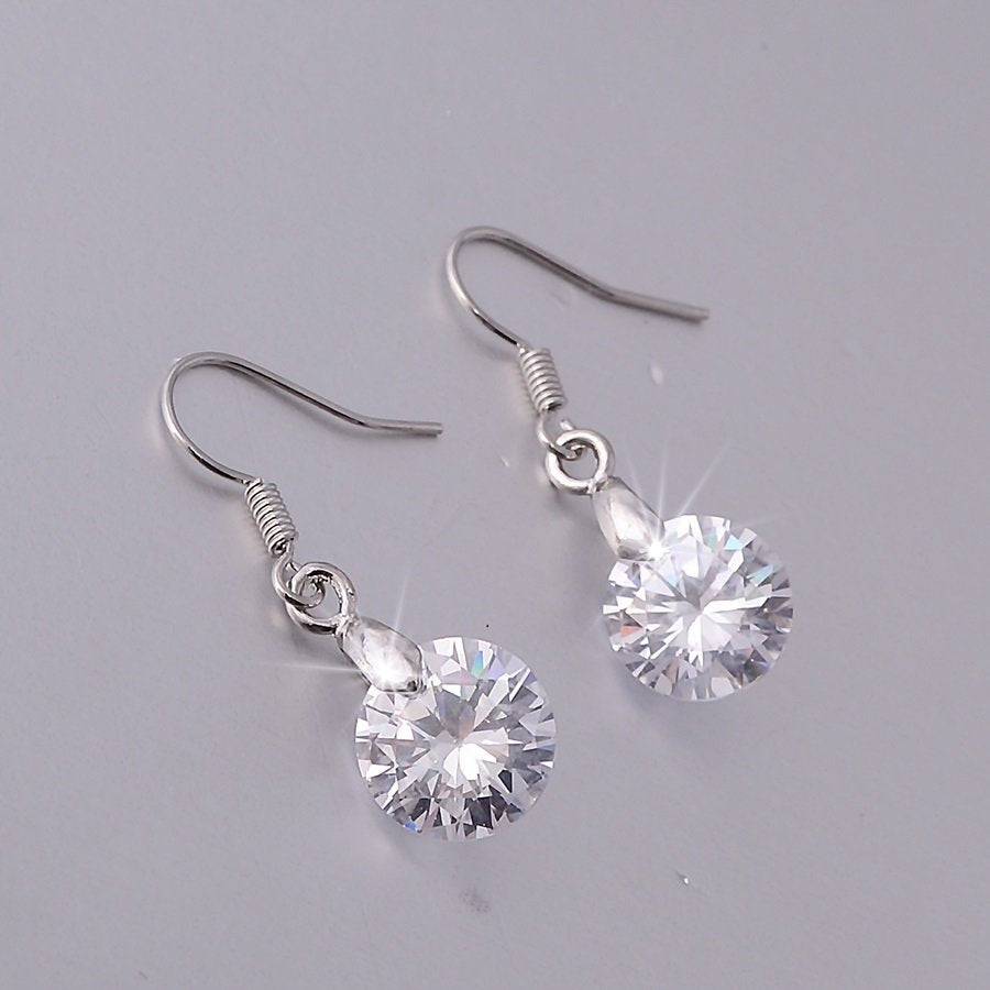Sparkling Swarovski Crystals Platinum Plated Earrings