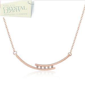 18ct White Gold Plated / Rose Gold Plated Necklace with Swarovski Crystals