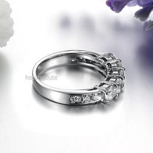 Stainless Steel 316L Eternity Ring with Swarovski Crystals