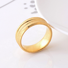 Load image into Gallery viewer, Stainless Steel Solid Yellow Gold Plated Ring