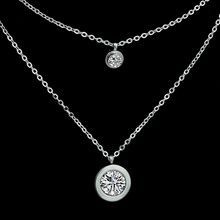Load image into Gallery viewer, High Quality Stainless Steel 316L Multi Layer Necklace with Swarovski Crystals