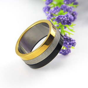 Gorgeous Stainless Steel 316L Unisex 3 Colour Ring