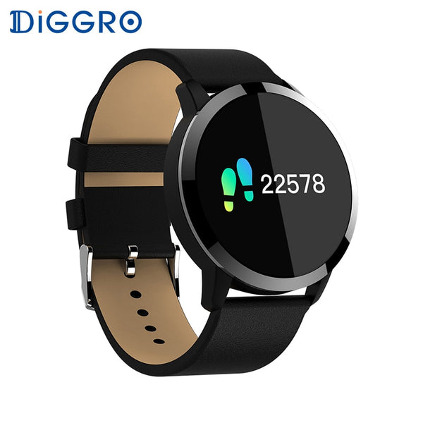 Diggro Q8 OLED Bluetooth Fitness Smart Watch Stainless Steel
