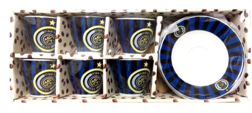 Inter Espresso Cups and Saucers set of 6