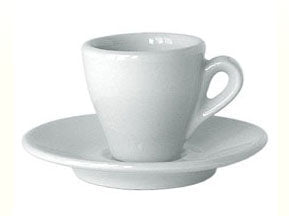 Nuova Point - Milano Espresso Cups and Saucers, White, Set of 6