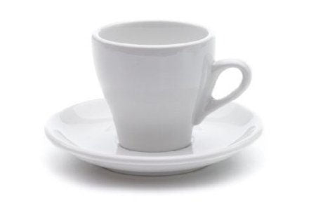 Nuova Point Milano Cappuccino Cups and Saucers, White, set of 6