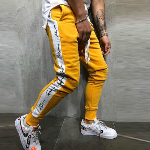 2019 Spring Hip Hop Fashion Print Design Jogging Pants