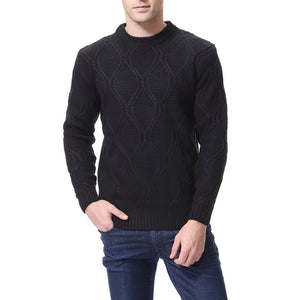 Casual Round Collar Plain Slim Sweater